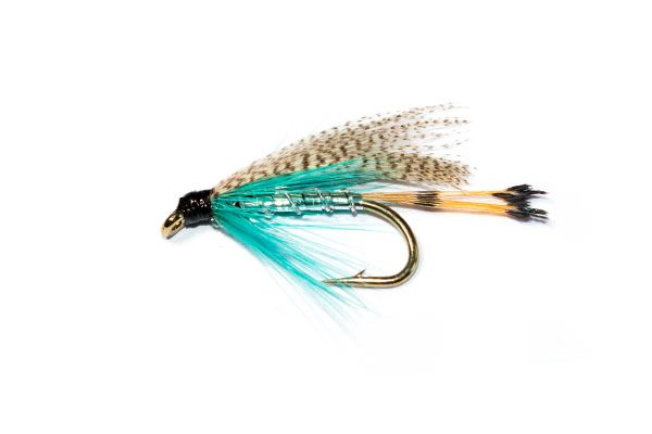fish fishing flies Teal blue and silver wet fly