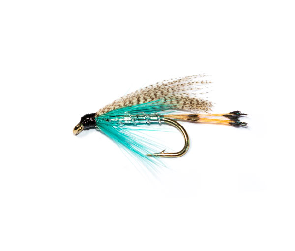 12 TEAL BLUE /& SILVER Wet Fishing Trout Flies various options