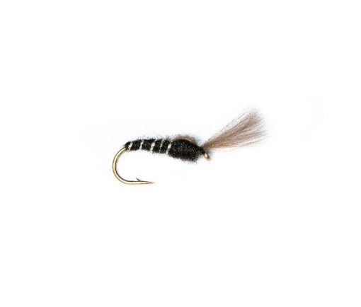 Black Shuttlecock Buzzer Fish Fishing Flies Brand