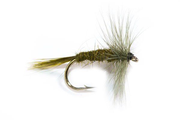 Fish Fishing Flies, Dark Olive Hackle