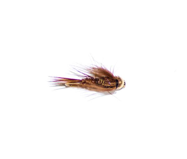Bead Head Rubber Leg Pheasant Tail Nymph size 16 fishing flies 1 Dozen 12