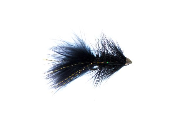 bullet nickel head black flash trout fishing fly lure