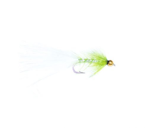 fishing flies green and white goldhead dancer