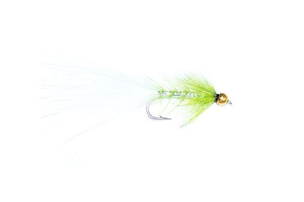 fishing flies green and white goldhead dancer