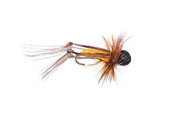 orange booby hopper dry flies