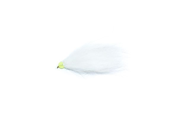 fishing flies white and lime hothead apache