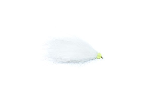 white and lime hothead apache fishing fly