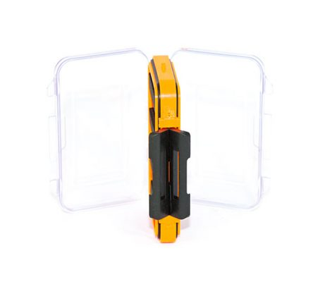 Waterproof acrylic fly box holds 88 flies