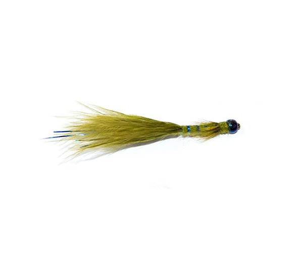 fishing flies flash head olive and blue damsel nymph fly