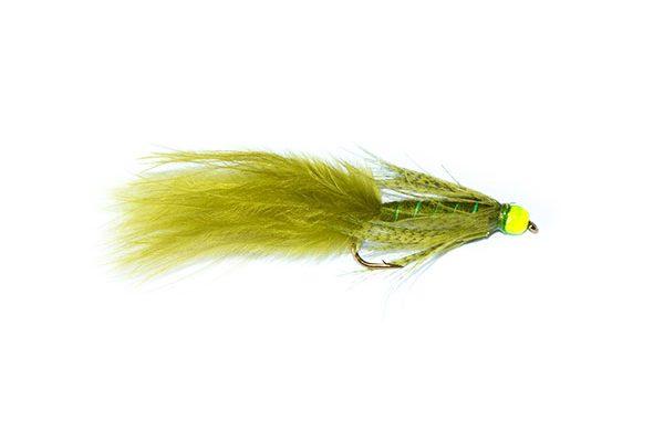 Fish Fishing Flies Green Hothead Damsel