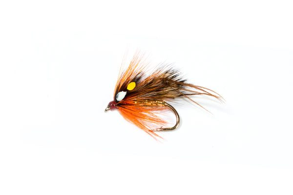 trout fly Hopper Half Hog Orange Dunkeld SJC