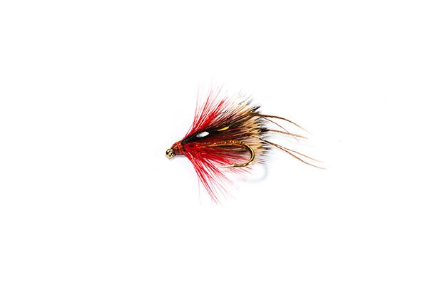 trout fishing fly Hopper Half Hog Red Dunkeld SJC