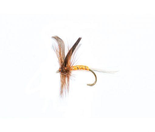 dry fly orange spinner fishing flies