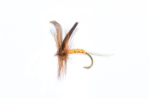 dry fly orange spinner fishing flies