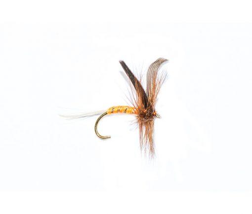 fishing flies orange spinner winged dry fly