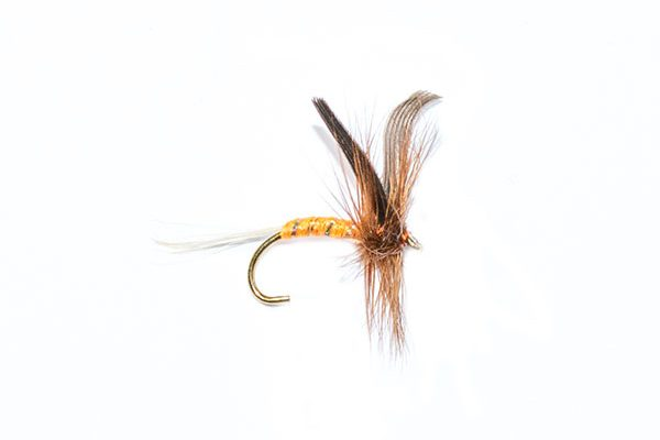 fishing flies orange spinner winged dry fly