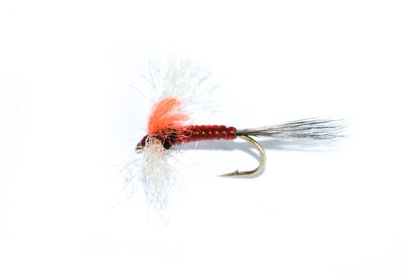fish fishing flies brand poly spinner hi vis orange dry