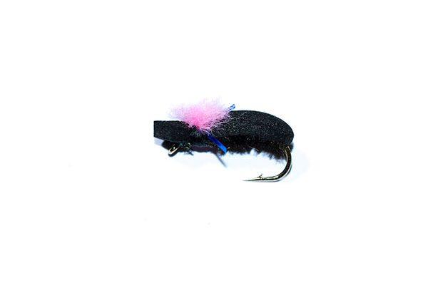 fishing flies Target Foam Beetle Pink blue Holographic