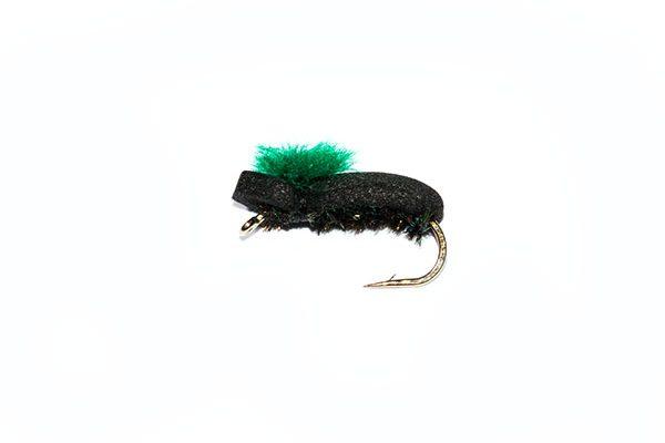 Target Foam Beetle Green fishing flies