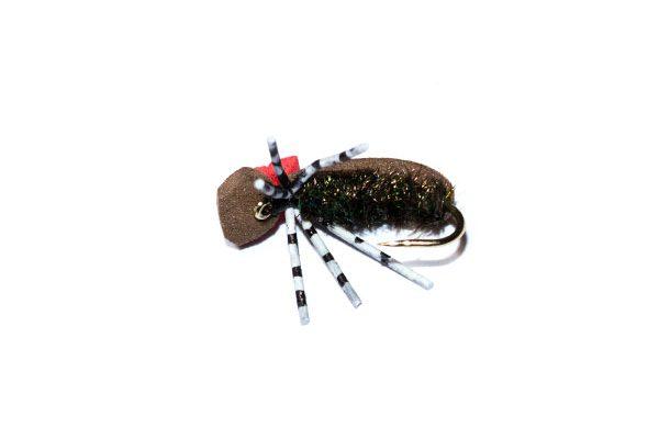 Target foam beetle hi vis fishing fly