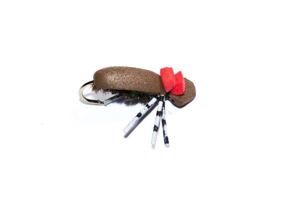 Target foam beetle hi vis fishing fly trout fishing flies