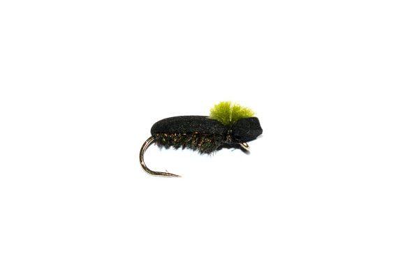 trout fishing flies Target Foam Beetle Olive