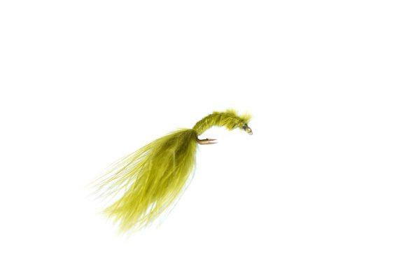 Olive marabou blood worm