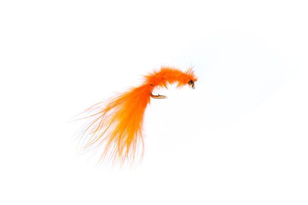 fish fishing flies brand Orange Marabou Blood Worm