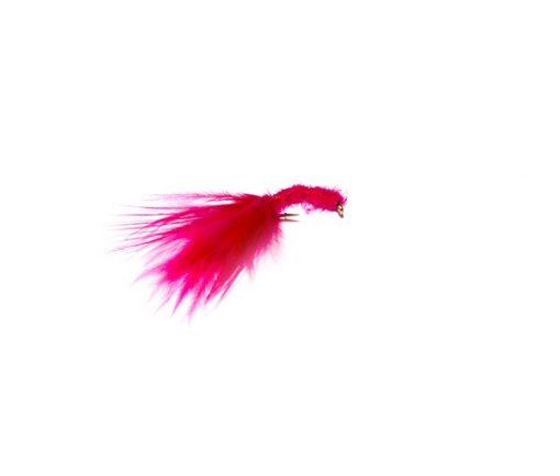 Fish Fishing Flies UK Branded Quality trout fishing flies Cerise Marabou Blood Worm