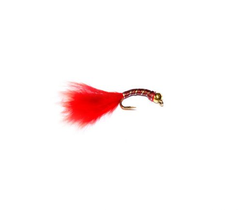 Red Epoxy Sparkle Blood Worm fish fishing flies