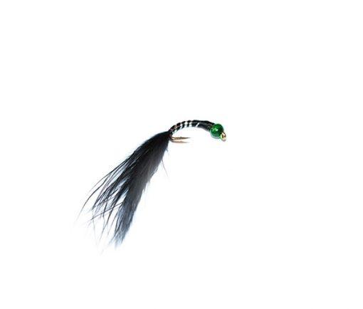fish fishing flies hand tied range green bead head blood worm fishing flies