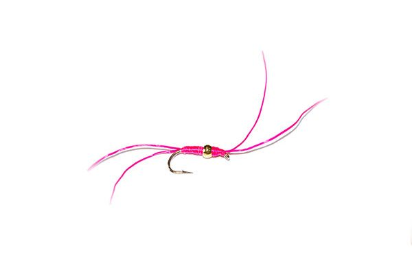 Pink Gold Nugget Blood Worm Fishing Fly