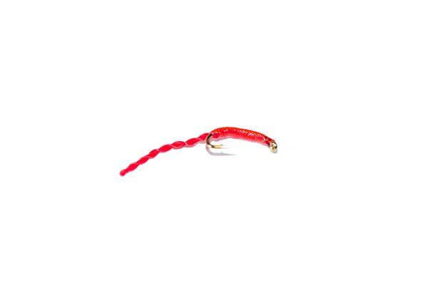 fish fishing flies branded uk quality flies Red Epoxy Flexi Floss Blood Worm