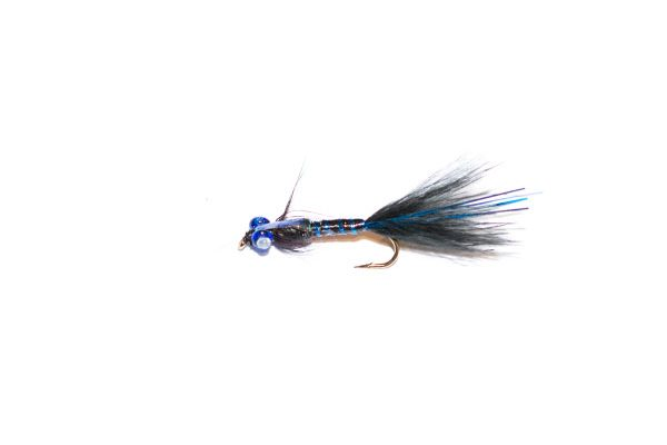 Fish Fishing Flies branded quality black and blue epoxy flash damsel nymph fishing flies