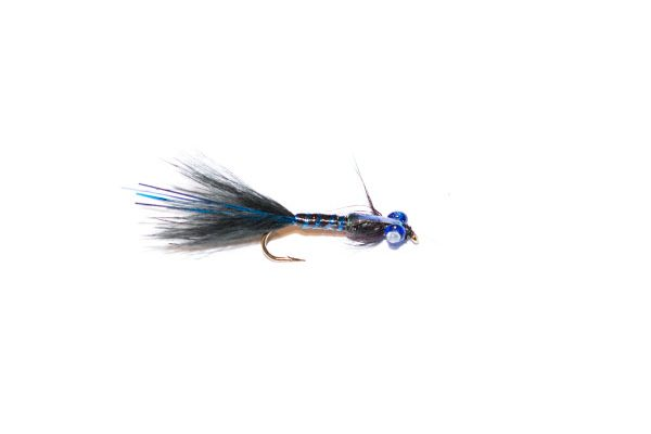 Branded fishing fly quality black and blue epoxy flash damsel nymph fishing flies