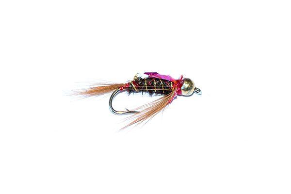 fishing flies of quality from fish fishing flies. diawl bach 3d flashy red goldhead nymph.