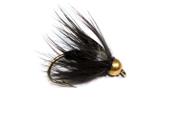 Fish Fishing Flies Black Spider Goldhead UV Straggle Thorax