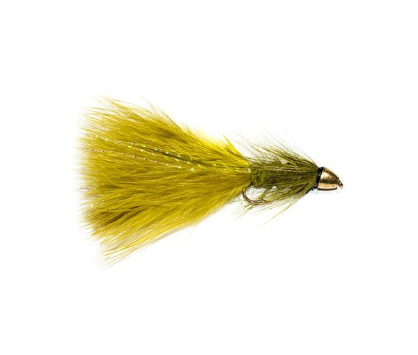 Fish Fishing Flies Damsel Nymph Olive Bullet Head