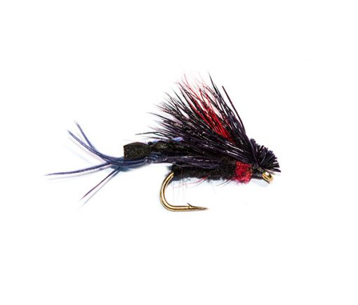Fish Fishing Flies Detached Body Black and Red Hopper