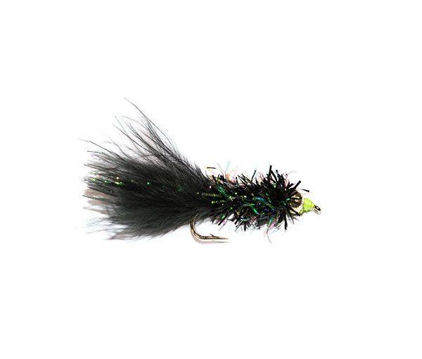 Fish Fishing Flies Fritz Black Nomad Goldhead