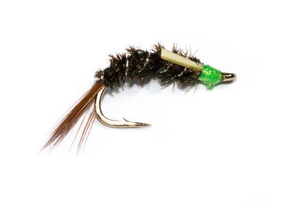 Fish Fishing Flies, Green Head Diawl Bach Nymph