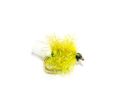 Fish Fishing Flies Lime Sparkle Foam Blob