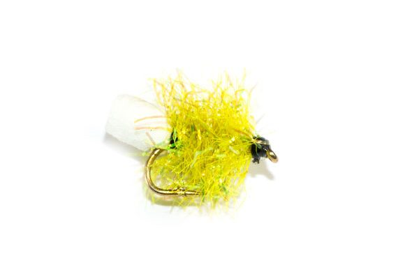 Fish Fishing Flies Lime Sparkle Foam Blob