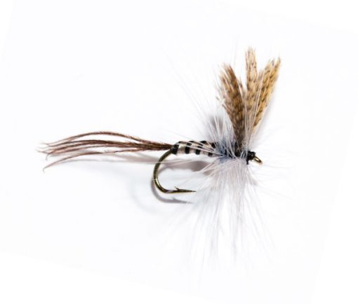 Fish Fishing Flies Branded Quality, Mayfly Ribbed Dry Fly.