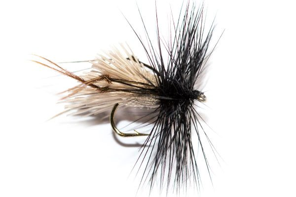 Fish Fishing Flies, Natural Goddard Caddis Black Hackle Brown Legs Hopper