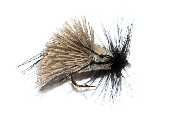 Fish Fishing Flies Brand, Natural Goddard Caddis Black Hackle Hopper