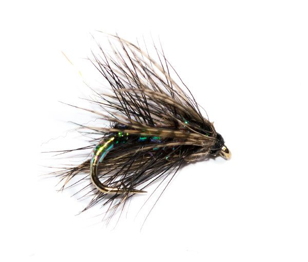 Fish Fishing Flies Brand Quality Pearly Spider Wet Fly.