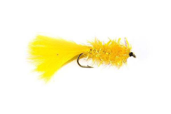 Fish Fishing Flies, Yellow Fritz Damsel Fishing Fly.