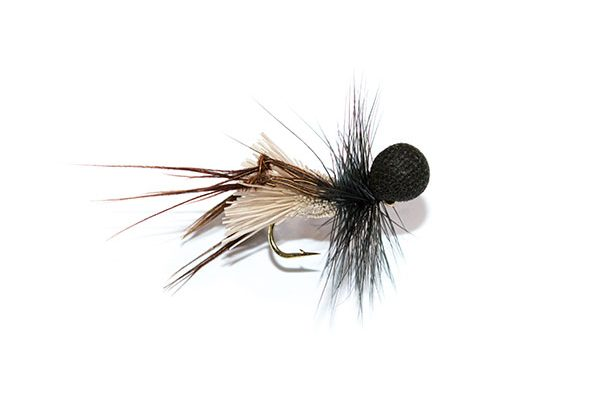 Fish Fishing Flies Black Booby Head Deer Hair Sedge Hopper