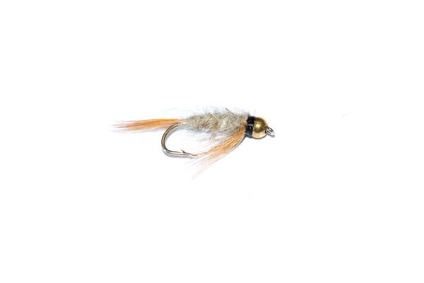 Branded high quality fishing flies from the UK. Fish Fishing flies brings you the Diawl Bach Hares Ear Goldhead Nymph